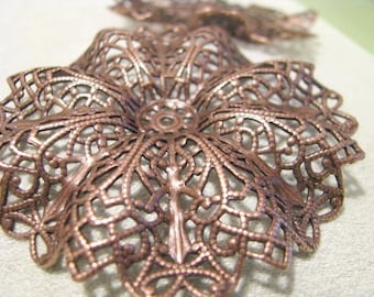 Really Large Filigree Setting IN Copper Finish   Brass