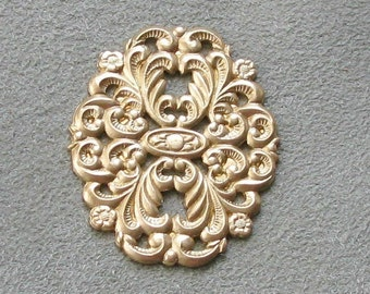 Beautiful Medium Brass Filigree Stamping -1 Pair-    06699