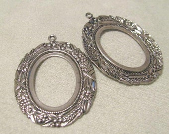 Highly Detailed Cabochon Setting in Antique Silver finish  8762 ASP