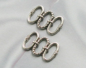 Silver Plated finish 3 Loops Brass Stamping