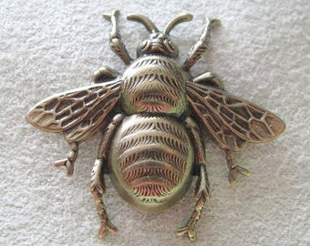 Medium Size Antique Gold Finish Bee