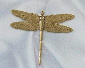 1 Pair Antique Gold  Dragonfly Jewelry Finding  or for Wrapping 1 ring 7355-r