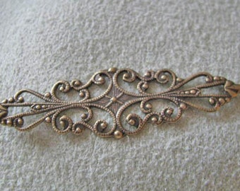 Antique Gold Finish Filigree band  24783acc
