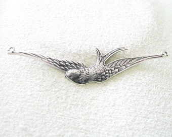 Trinity Vintage Patina (TM) Antique Silver finish Swallow