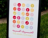 Arabic Alphabet Print (Girl Colorway)