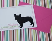Design your own pet silhouette personal stationery