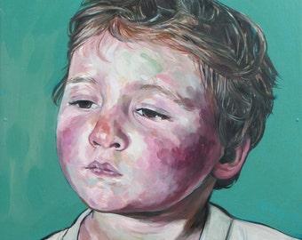 Child portrait of a Boy- Original Oil Painting