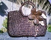 My Diana Maria Creations ... Eco-Friendly Straw handbag with flower design