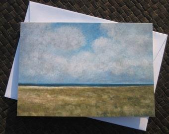 Sandy Hook in November note card with envelope