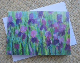 Iris note card with envelope