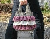 Crochet PATTERN Purse - Waves of Ruffles Purse in PDF format by Bella McBride