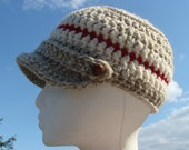 Crochet PATTERN Newsboy -  Lumber Jillian Hat Crochet in PDF Format Now in Both Adult and Children Sizes