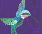 Hummingbird Bliss, Fine Art Print (8.5x11 in.)