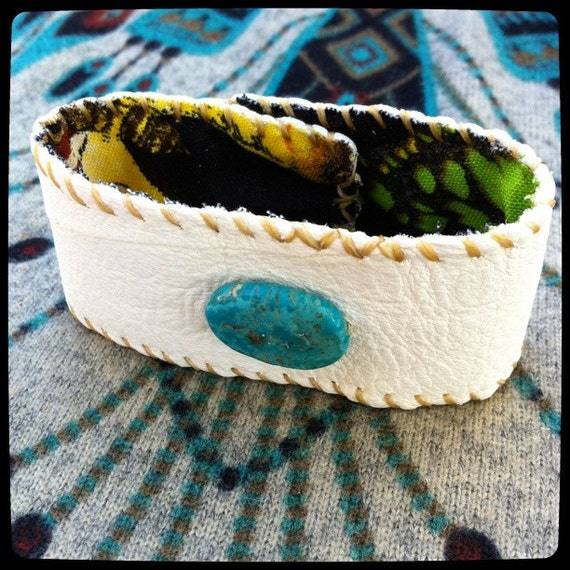 Deer Spirit Cuff with Turquoise