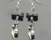 Black Rabbit Earrings