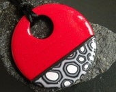 Red, Black, White and Gray Pendant...