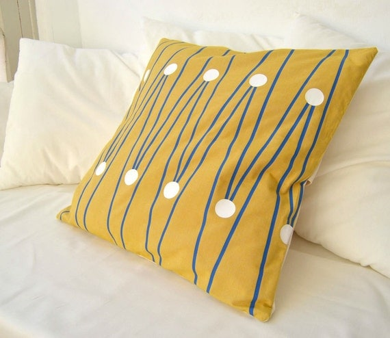 Golden Honey pillow cover with design inspired by Mosaics