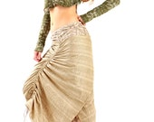 Natural Ivory White Wrap skirt, 2 sided, reversable patterns, few styles to wear