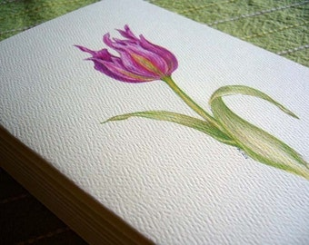 Tulips notecards, Blank greeting cards, Note Cards Tulips, Tulip Notecards, stationery, Set of 6, stationary