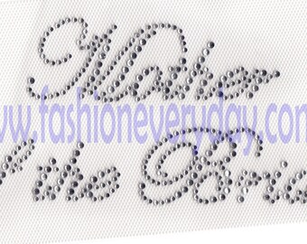 Rhinestone Iron On Transfer Hot fix  Mother of the Bride