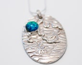 Fine Silver Pendant with Sterling Chain - Primordial Garden - 70040