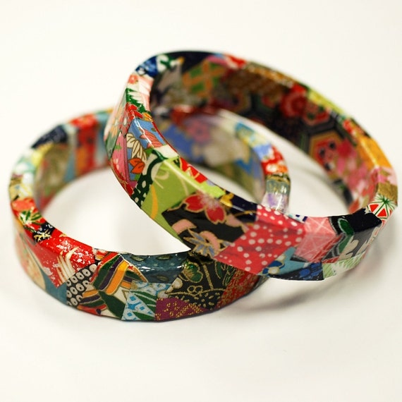 Japanese Origami Paper Eco Friendly Bangle Bracelet - Silk Road
