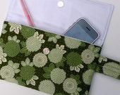 Green Flowers Clutch