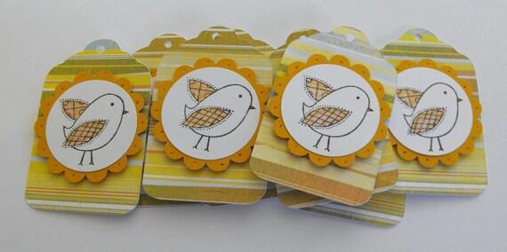 Bird gift tags set of 8