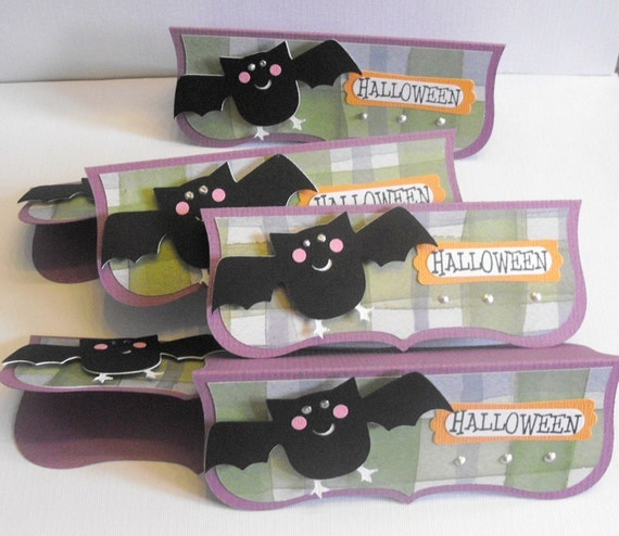 Halloween Treat Bag Toppers Bat