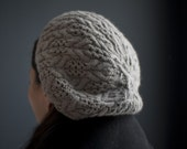 Cables and Lace Beret Knitting Pattern