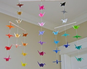 Origami Crane Mobile - Colour Wheel - Contemporary Mobile