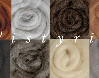 Wistyria Wool Roving Assortment - Furry Friends 892