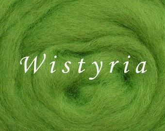 Wistyria Wool Roving (Corriedale) 1 oz - LIME