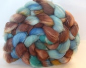 South-west Spirit, Hand painted, Super wash Merino roving, 4oz.