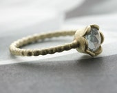 RESERVED FOR marianobb - 14 Karat Yellow Gold and Baby Blue Sapphire Ring