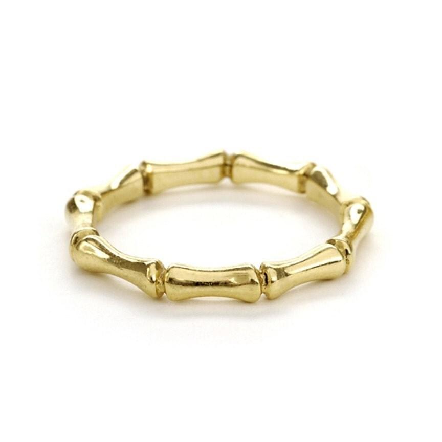 18 Karat Gold Bamboo Ring By NatashaKahnDesigns On Etsy