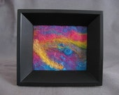 SHOP CLOSING SALE - Felt Painting In Black Frame - Hand Felted - Fiber Art - Mothers Day Gift