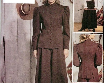 Westering Riding Outfit Old West Butterick 3836 Sizes 6-8-10 Long Culotte