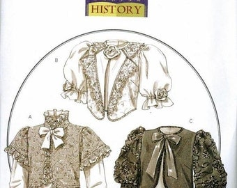 Butterick 4952 Jacket Pattern Size 6-8-10-12 Victorian My Fair Lady Costume