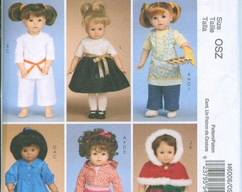 McCalls 6006 American Girl 18 Inch Doll Dress Sewing Pattern Lots of Options Karate Apron Christmas Dress