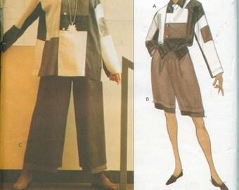 Vogue 1179 Issey Miyake Designer Original Pattern Sizes 10 Tunic Pants Shorts OOP Uncut