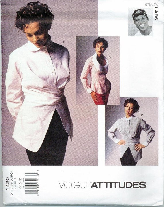 1990s Byron Lars shirts pattern - Vogue 1420