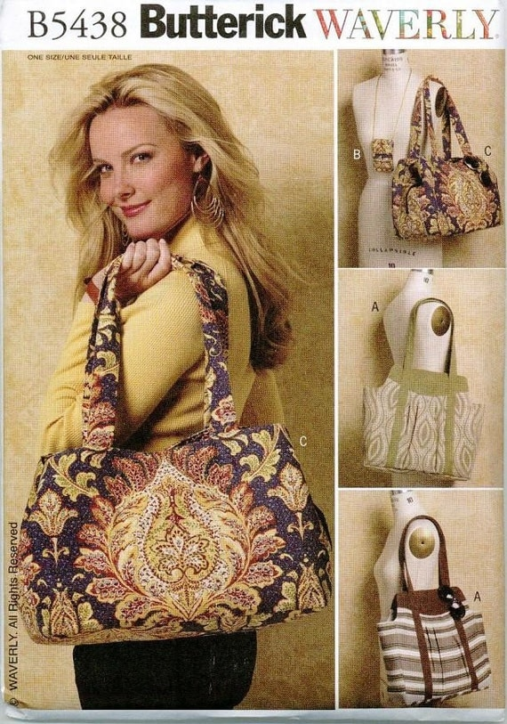 Purse hand bag sewing pattern Butterick 5438 Waverly Cell Phone Case
