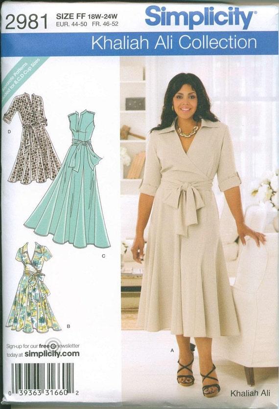 womens sewing pattern plus size simplicity 2981 18 24 khaliah