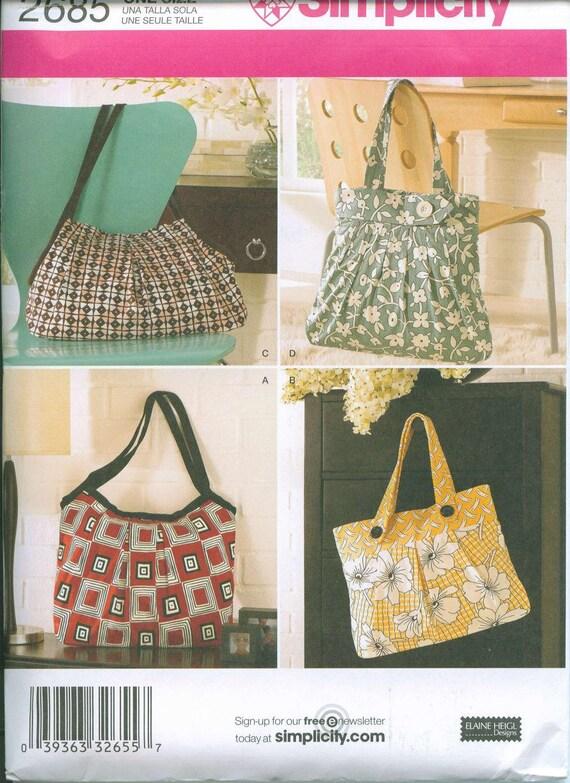 Simplicity 2685 Adorable Purses Bags Purse handbag Sewing Pattern NEW Totes