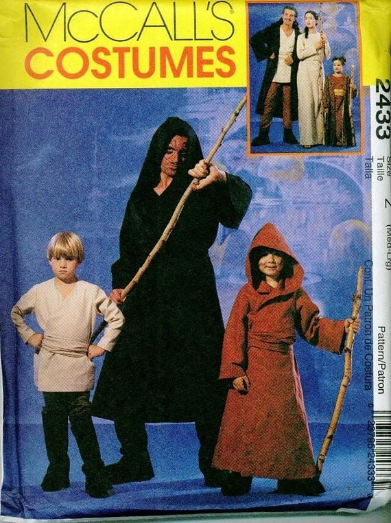 STAR WARS Costume PATTERN Jedi Sith Darth Maul Obi Wan Robes McCalls 2433 Med-Large OOP