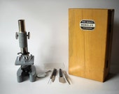 RESERVED Vintage Monolux Microscope in Wooden Box
