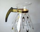 Vintage Glass Coffee Pot Glass Carafe David Douglas Mid Century Modern Atomic