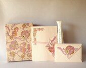 Vintage Stationery Writing Paper Envelopes Fish Seahorse Under The Sea Montag's Mead Products Snail Mail Letter