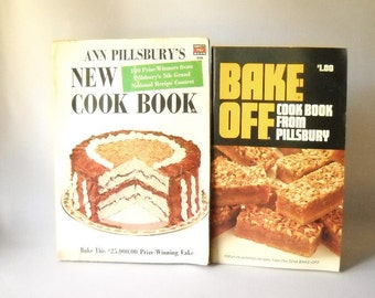 Vintage Cookbook Baking Pillsbury Bake Off Recipe Books Set of 2